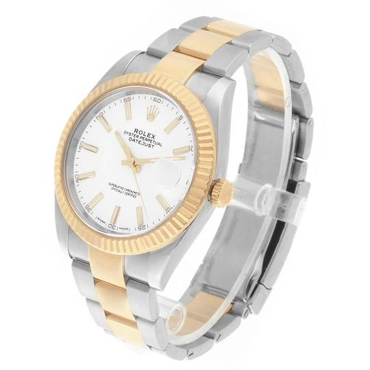 Rolex Rolex Datejust 41 Steel Yellow Gold White Dial Mens Watch 126333 Image 3