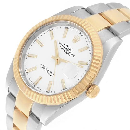 Rolex Rolex Datejust 41 Steel Yellow Gold White Dial Mens Watch 126333 Image 4