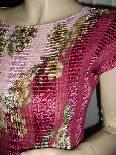 Pleated Top fuschia,gold,cranberry beige,olive green Image 1