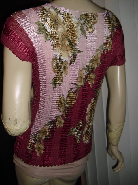 Pleated Top fuschia,gold,cranberry beige,olive green Image 3