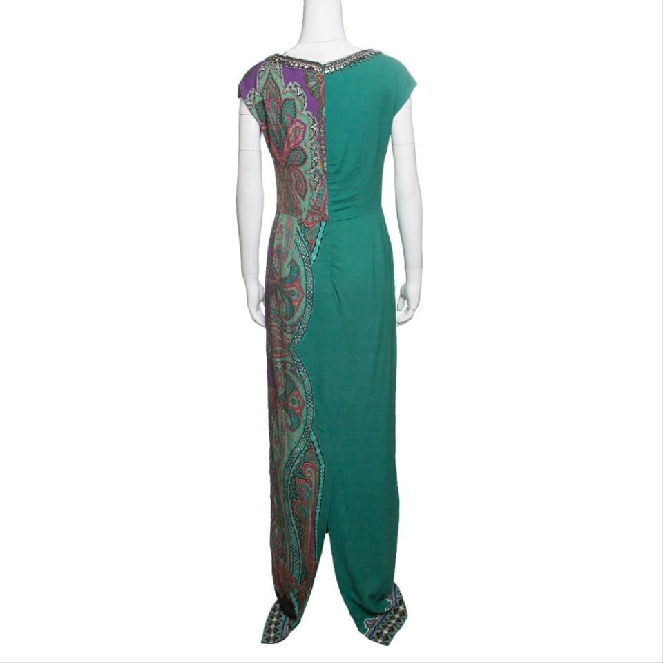 timeless design 48944 44763 Etro Green Paisley Printed Embellished Long Casual Maxi Dress Size 8 (M)  79% off retail