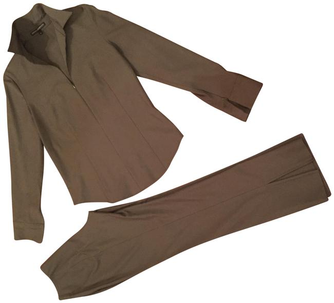Preload https://img-static.tradesy.com/item/25346353/donna-degnan-dark-gray-olive-stretch-imported-fabric-6-top-pant-suit-size-4-s-0-2-650-650.jpg