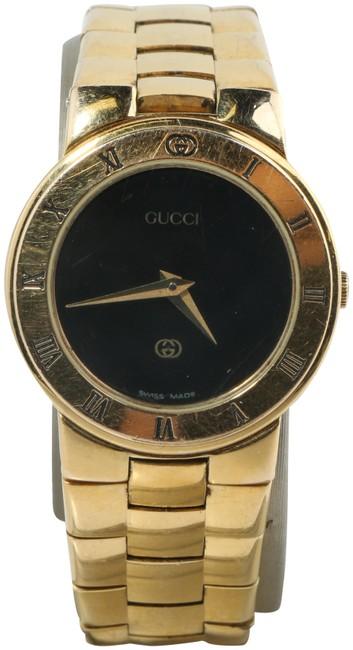 Item - Black/Gold-tone 25.5mm Gold Plated 3300l Watch
