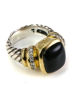David Yurman David Yurman Noblesse Onyx and Diamonds Ring
