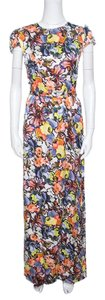 Multicolor Maxi Dress by ERDEM Floral Silk Belted Maxi