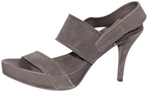Pedro Garcia Suede Leather Gray Sandals