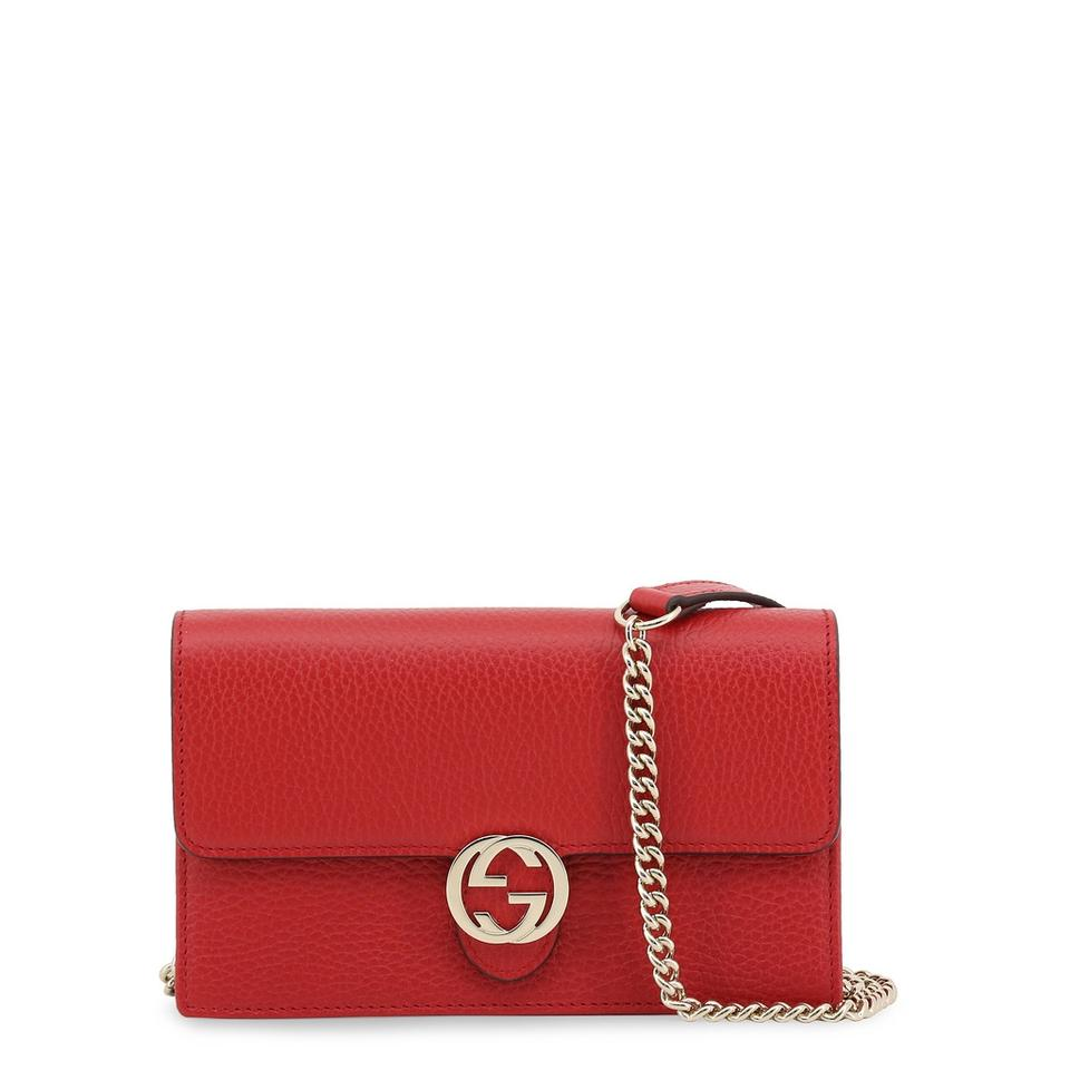 7c4518e409d Gucci Interlocking Gg Clutch Red Leather Cross Body Bag - Tradesy