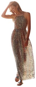 Multicolor Maxi Dress by Anthropologie Beaded Halter Animal Print Rainbow Hd In Paris
