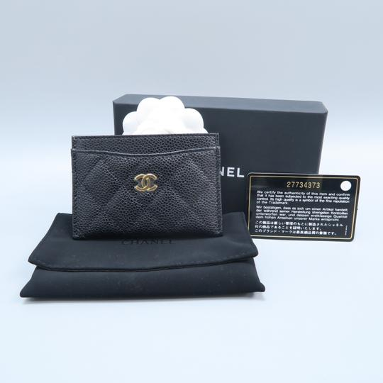 Chanel Black Caviar Quilted O-card Holder Wallet Image 1