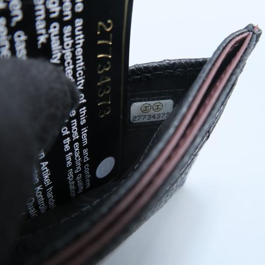 Chanel Black Caviar Quilted O-card Holder Wallet Image 11