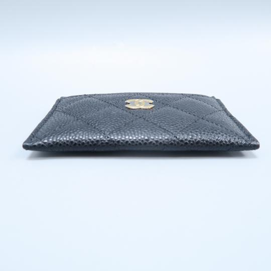 Chanel Black Caviar Quilted O-card Holder Wallet Image 3