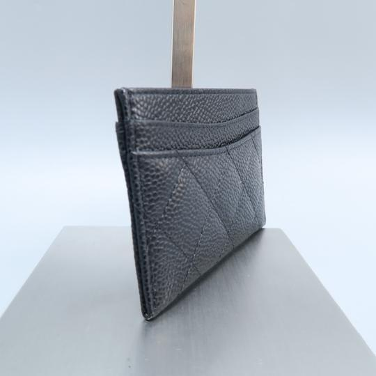 Chanel Black Caviar Quilted O-card Holder Wallet Image 4