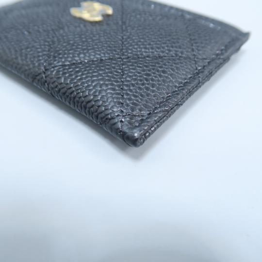 Chanel Black Caviar Quilted O-card Holder Wallet Image 5