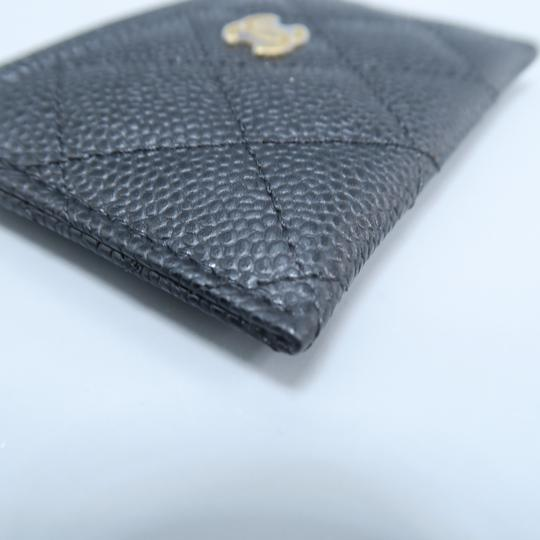 Chanel Black Caviar Quilted O-card Holder Wallet Image 6