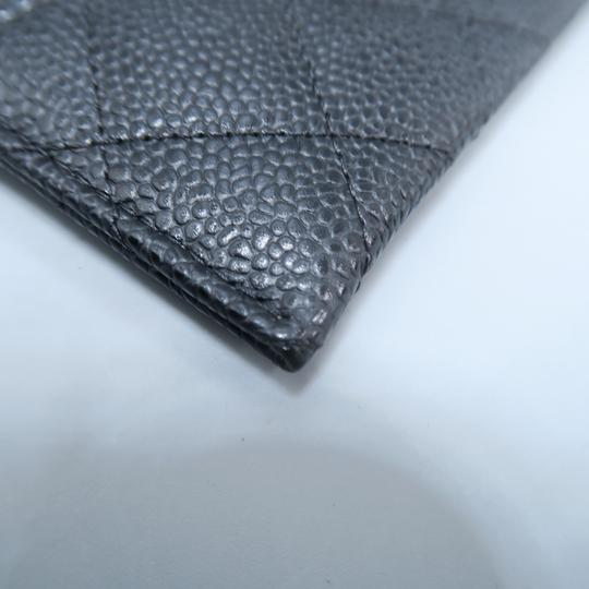 Chanel Black Caviar Quilted O-card Holder Wallet Image 7