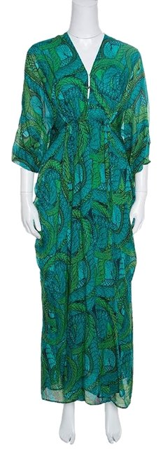 Preload https://img-static.tradesy.com/item/25346935/issa-london-green-printed-silk-zip-front-ruched-long-casual-maxi-dress-size-4-s-0-1-650-650.jpg