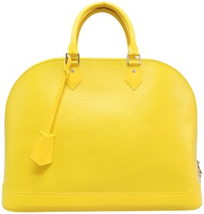 Louis Vuitton Lv Alma Gm Epi Tote in Yellow