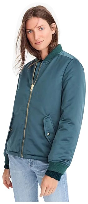J.Crew New with Tag Bomber Zippers Jacket Size 4 (S) J.Crew New with Tag Bomber Zippers Jacket Size 4 (S) Image 1