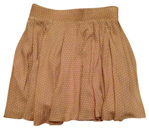 Lucca Couture Mini Skirt peach with white polka dot