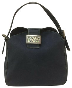Fendi Excellent Condition Shoulder & Leather Le Style Enamel/Chrome Clasp Hobo Bag
