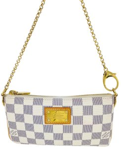 8ccfe858ce9 Louis Vuitton Brass Pochette Clutch Damier Azur Inventeur Shoulder Bag