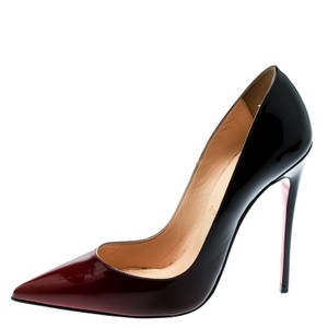 Christian Louboutin Two-tone Patent Leather Pointed Toe Multicolor Pumps