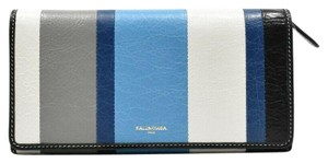 Balenciaga Bazar Blue Striped Wallet