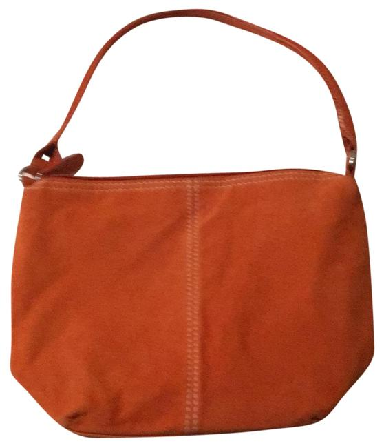 Item - Purse Orange Suede Leather Hobo Bag