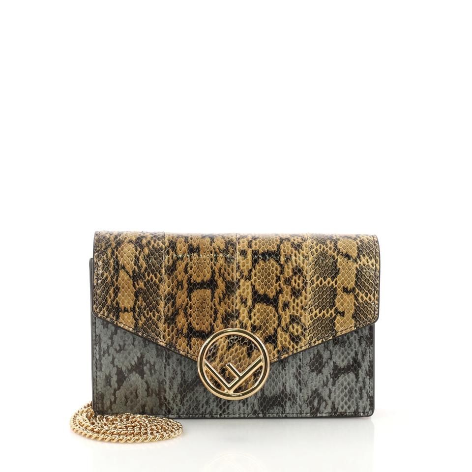 8f2f920d65f0 Fendi Genuine Tricolor Kan I On Chain Python Wallet - Tradesy