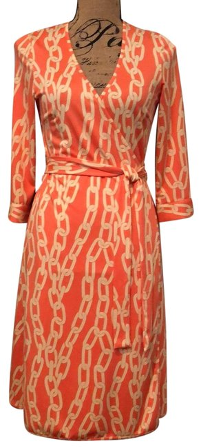 Item - Coral Mid-length Short Casual Dress Size 8 (M)