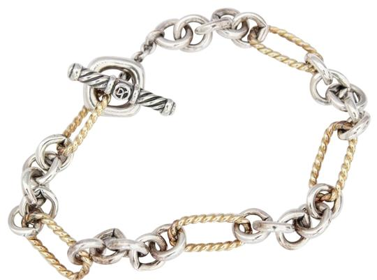 Preload https://img-static.tradesy.com/item/25348158/david-yurman-silver18kt-gold-figaro-link-toggle-bracelet-0-1-540-540.jpg