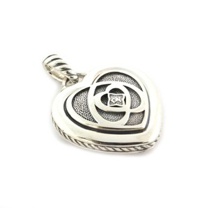 David Yurman Puffed Heart Cable Sterling Silver Pendant