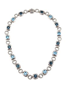 David Yurman DAVID YURMAN TOPAZ STERLING SILVER & 18K WHITE GOLD RENAISSANCE COLLAR
