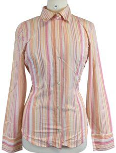 Banana Republic Button Down Shirt orange pink white