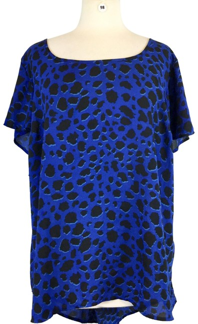 Item - Blue Black Blouse Size 26 (Plus 3x)