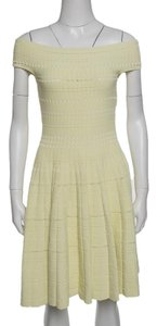 Alexander McQueen short dress Yellow Perforated Polyester Cotton Nylon on Tradesy