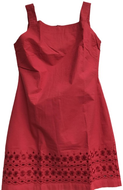 """Item - Red Summer Vintage 80""""S Dress/ with Tag Short Casual Dress Size 4 (S)"""