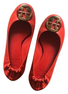 Tory Burch orange and gold Flats