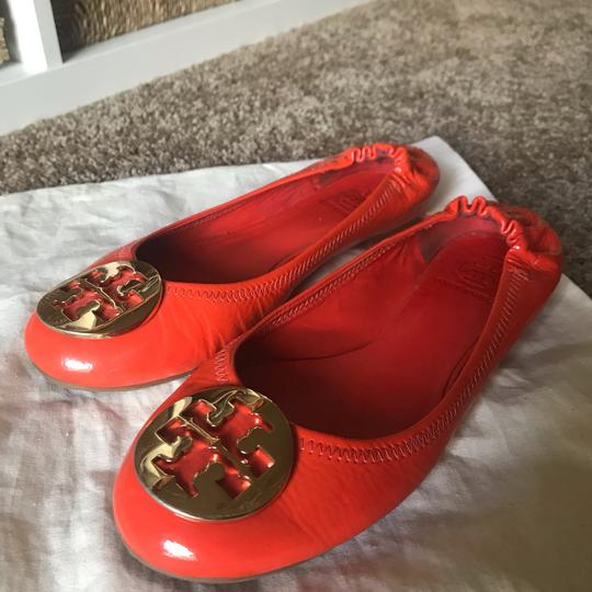 Tory Burch orange and gold Flats Image 5