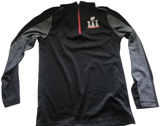 Item - Black and Red Super Bowl Ll 1/4 Zip Pullover Activewear Outerwear Size 8 (M)