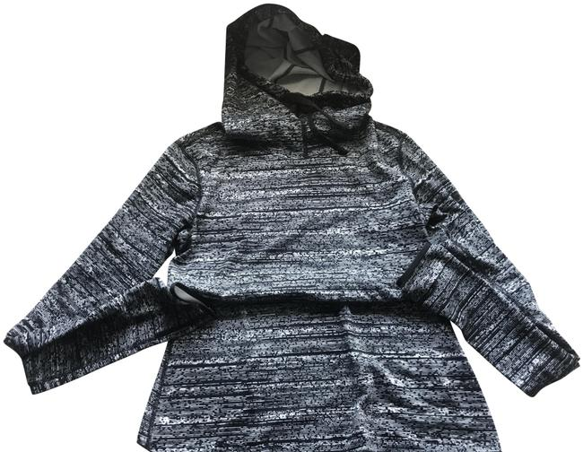 Item - Gray Black White Pro Hyperwarm Training Pullover Activewear Outerwear Size 4 (S)