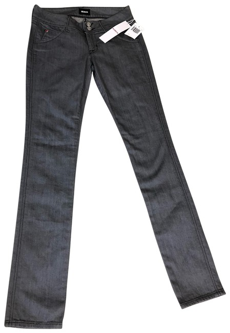 Item - Steel Grey Light Wash Low Rise Straight Leg Jeans Size 00 (XXS, 24)