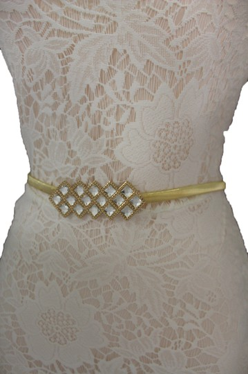 Alwaystyle4you Women Gold Elastic Metal Fashion Belt Bling Buckle Hip Waist S M L Image 5