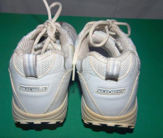 Skechers Sneakers Shape Ups Shape Ups Leather Leather Sneakers White Athletic Image 2