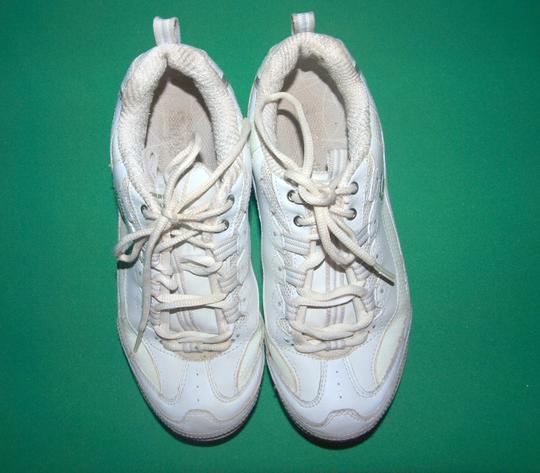Skechers Sneakers Shape Ups Shape Ups Leather Leather Sneakers White Athletic Image 3