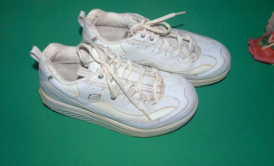 Skechers Sneakers Shape Ups Shape Ups Leather Leather Sneakers White Athletic Image 4
