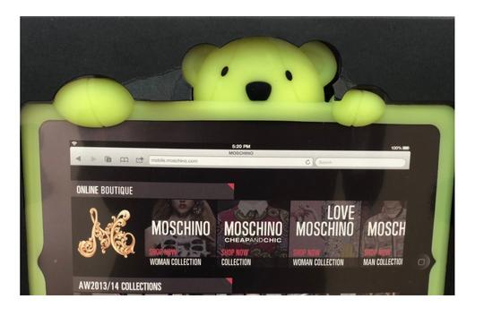 Moschino Moschino Gennarino the Bear Glow in the Dark Rubber iPad Mini Case Image 4