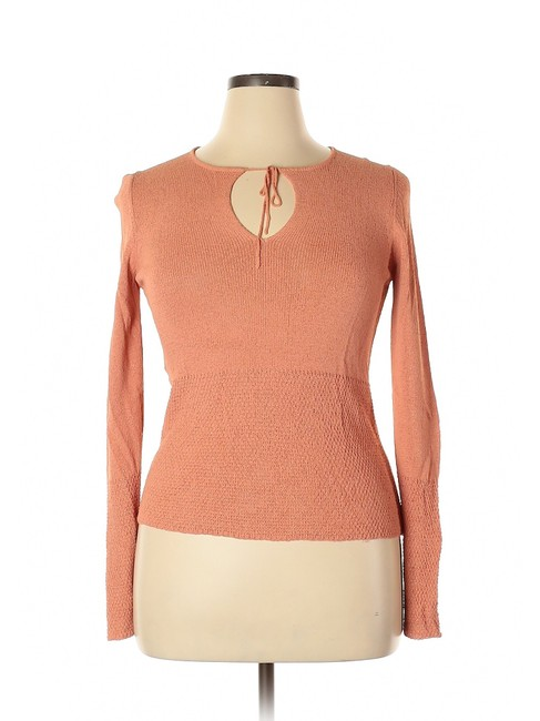 Preload https://img-static.tradesy.com/item/25349826/margaret-o-leary-keyhole-textured-coral-sweater-0-0-650-650.jpg