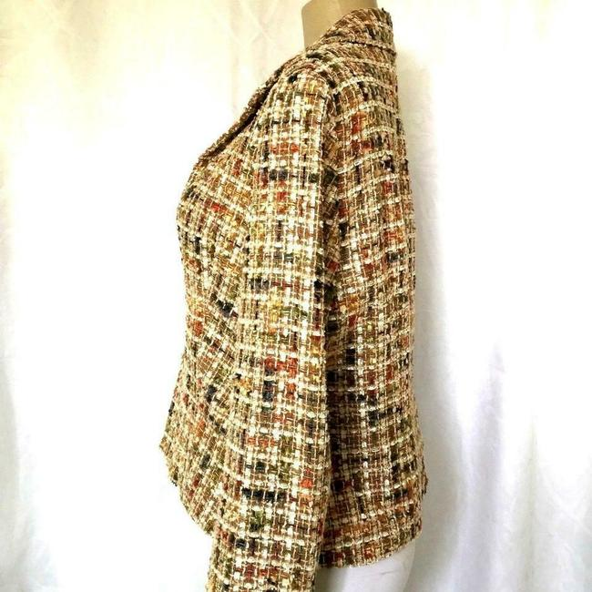Lafayette 148 New York Jacket Tweed Brown Blazer Image 2