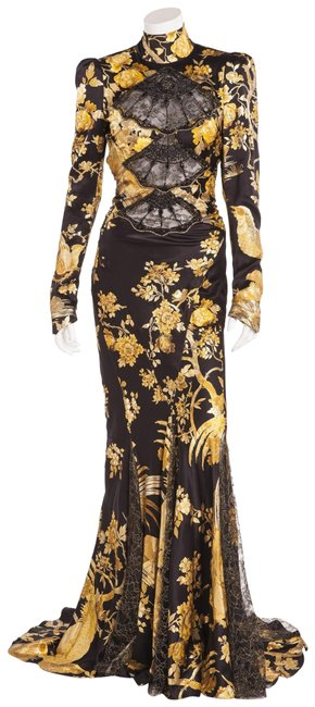 Preload https://img-static.tradesy.com/item/25349879/roberto-cavalli-black-with-yellow-and-gold-flowers-backless-oriental-style-long-formal-dress-size-4-0-1-650-650.jpg